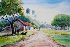 indian watercolor landscape paintings에 대한 이미지 검색결과