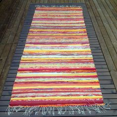 Recycled Fabric, Scandinavian Style, Woven Rug, Pattern Design, Bohemian Rug, Recycling, Weaving, Textiles, Rag Rugs