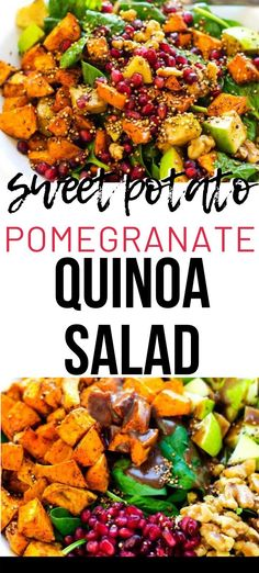 This easy Healthy Sweet Potato Quinoa Salad is easily my favorite quinoa salad  that I've ever made. It is so colorful, light, and refreshing. Make this one for your next family dinner, and you will have a glow of satisfaction that comes from serving something that everyone loves. #wendypolisi #healthy #glutenfree  #quinoarecipes Quinoa Recipes Easy, Vegetarian Salad Recipes, Healthy Gluten Free Recipes, Main Dish Salads, Veggie Side Dishes, Dinner Salads, Sweet Potato Quinoa Salad, Glutenfree, Dinner Recipes
