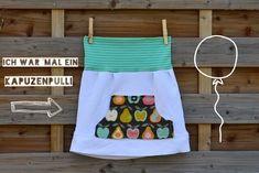 Und weiter geht's mit dem Kiddies-Klamotten-Upcyling. Aus T-Shirts, Pullovern, Sweatern etc. enstehen relativ schnell süße Röcke...einfach...