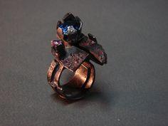 Blue lonely Star  ring  sterling silver by MirekGomolkaJewelry, $1745.00