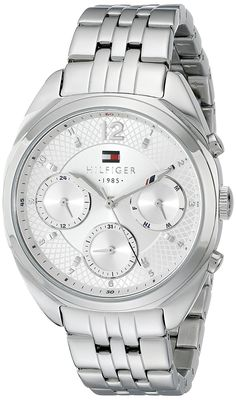 Tommy Hilfiger Women's 1781485 Analog Display Quartz Silver Watch -- Be sure to check out this awesome product. (This is an Amazon Affiliate link and I receive a commission for the sales)