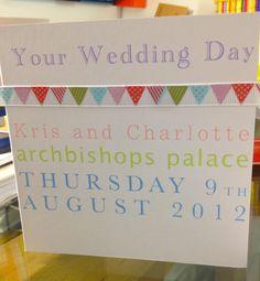 Personalised Typography Wedding Card by BIGredZippy