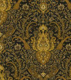 Home Decor Print Fabric-Waverly Byzance Onyx