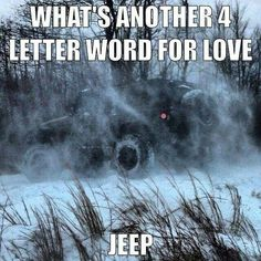 Jeep is a 4 letter word