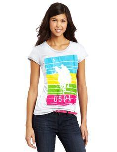 U.S. Polo Assn. USA: Juniors Four Color Logo T-Shirt.