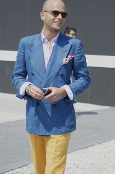 Pitti Uomo 86 2014  Luca Rubinacci  Florence Italy  Photo by Gloria Yang