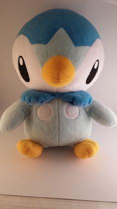"Japanese Pokemon 16"" Piplup life size 1:1 plush doll Tomy"