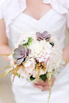 succulent peony rose bouquet