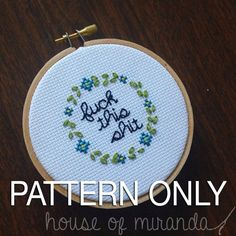 F this S PATTERN ONLY by houseofmiranda on Etsy
