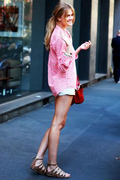 reminds me of the great j crew gingham shirts!  gingham is such a classic summer look!