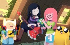 Finn, Jake, PB, and Marceline