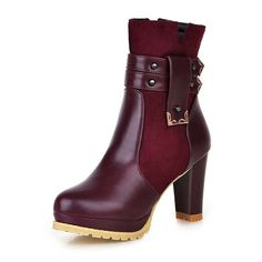 33.93$  Buy now - http://aliz2f.shopchina.info/go.php?t=32420425940 - Airfour Autumn and winter ankle boots women high heels winter boots shoes Martin boots Round Toe women boots with double zipper  #aliexpressideas