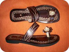 TROPIQUE BELLA Summer Leather Sandals - Handmade - $65.00 via Etsy