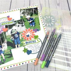 CREATIVE MEMORIES GREAT LENGTH STICKERS PLUMS GREENS LINES