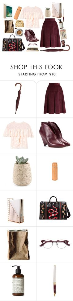 """""""Library Chic"""" by arboresque ❤ liked on Polyvore featuring Gucci, Miu Miu, Rebecca Taylor, Isabel Marant, Jayson Home, Rosenthal, EyeBuyDirect.com, Le Labo, Cartier and finals"""