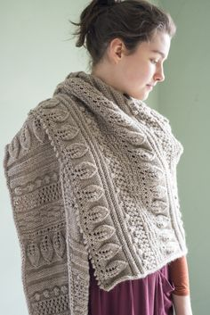 Greenwood Shawl, by Martha Wissing, in Berroco Ultra Alpaca. I'm thinking 'Irvin Green'...