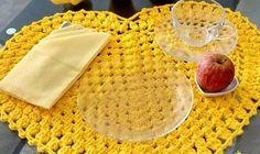 Que tal  um lindo jogo americano de crochê?pra sua mesa?