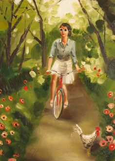 Catherine Decides To Get Some Fresh Air And Exercise- Limited Edition Print. $35.00, via Etsy.