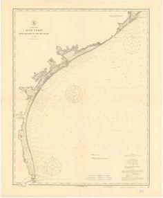 Galveston Bay to Rio Grande Historical Map - 1915