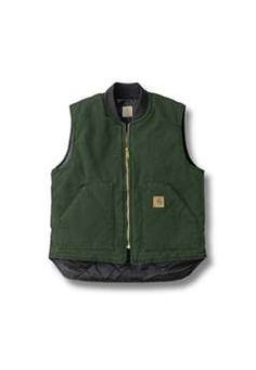 Carhartt Mens V02 Sandstone Vest Arctic Quilt Lined - Cypress Green | Buy Now at camouflage.ca