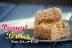 I will Make this one!!! Southern In-Law: Recipe: Peanut Butter Rice Crispy Bars