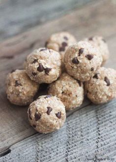 2. Chocolate Chip Cookie Dough Protein Bites