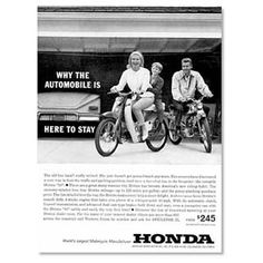 "From the archive: ""1963 Honda ad"" - Near Honda's early beginnings..."