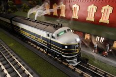 Buy It Now or Find It Locally http://mthtrains.com/30-20281-1 Now arriving the MTH RailKIng O Gauge Baltimore & Ohio F3 A-B-A item 30-20281-1. The RailKing F3 A-B-A operates on O-31 Curves and this Baltimore & Ohio model has a MSRP of $549.95. Ask your MTH Dealer about a RailKIng O Gauge F3 A-B-A today.