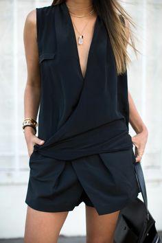 comment bien combiné le combi-short noir avec notre outfit?