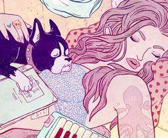 Kirsten Rothbart's all pink cartoons and fashion illustration | Creative Boom
