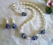 Pearls with Personality! Swarovski Pearl Necklace with FREE Matching Earrings