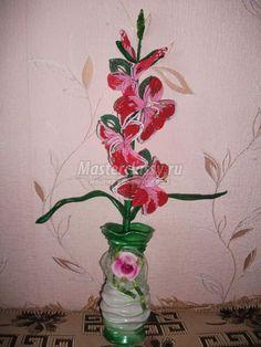 Цветы из бисера. Гладиолус. Мастер класс с пошаговыми фото