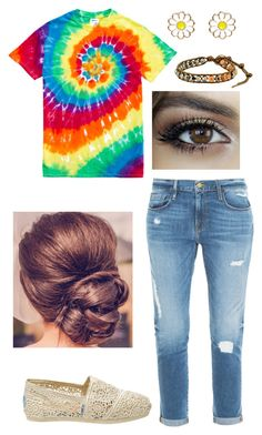 """Untitled #152"" by bolisf95 on Polyvore featuring Gildan, Accessorize, Frame Denim, TOMS and Chan Luu"