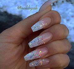 ❤️ these long bling nails to really put a sparkle in that special day of yours