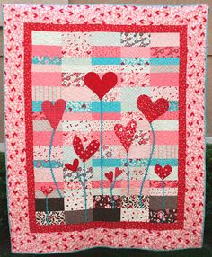 Adorable heart quilt wall hanging!