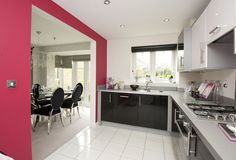Typical Morpeth kitchen leading to dining room