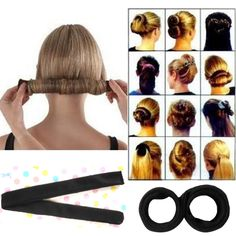 New Magic Hair Styling Multi Function Hair Donut Girls Hair Accessories French Twist Magic DIY Tool Bun Hair Maker Feathered Hairstyles, Hairstyles With Bangs, Easy Hairstyles, Girl Hairstyles, Long Haircuts, Hairstyle Ideas, Formal Hairstyles, Updos Hairstyle, Hairstyles 2016