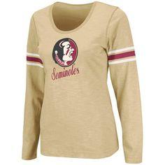 Florida State Seminoles (FSU) Ladies Mako II Slub Long Sleeve T-Shirt - Gold