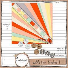 Addiction alpha and template freebie from Studio Basic Designs #scrapbook #digiscrap #scrapbooking #digifree #scrap