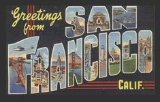 Could do something like this for a save the date - instead of San Fran, list your names and have the city scenes still come thru the letters...