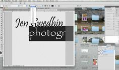 A tutorial showing how to create a watermark brush in Photoshop by using custom text and making a reusable brush. People - THIS IS NOT MY ACTUAL WATERMARK. T...