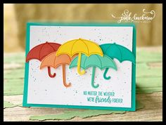 dress ideas – New Ideas Hand Made Greeting Cards, Making Greeting Cards, Weather Cards, Umbrella Cards, Under My Umbrella, Stampinup, Friendship Cards, Stamping Up Cards, Get Well Cards