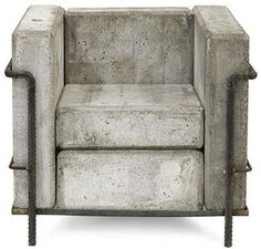 Concrete Stefan Zwicky Armchair By Le Corbusier.Heavy Duty Concrete Chair Stefan Zwicky's Version Of Le . 12 Indoor Outdoor Concrete Furniture Pieces For Urban Flair. 6 Surprising Concrete Ideas For Your Home That Don't Look . Toilets and Bathroom Ideas Concrete Cement, Concrete Furniture, Concrete Design, Modern Furniture, Furniture Design, Concrete Garden, Outdoor Furniture, Ceramic Furniture, Concrete Table