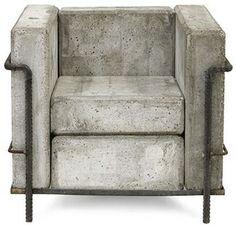 Cement Armchair
