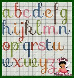 Pretty X-stitch alphabet, lower case