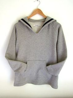 sweatshirt with sailor collar.    I just love sailor collars!