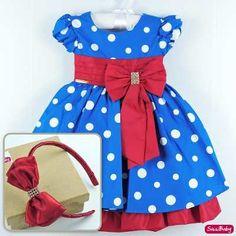 Vestido Festa Infantil Galinha Pintadinha Luxo Com Tiara - R$ 119,90 no MercadoLivre