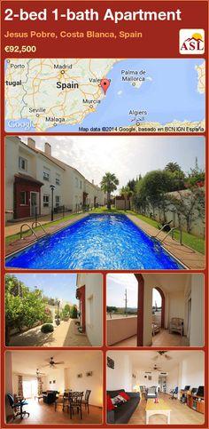 2-bed 1-bath Apartment in Jesus Pobre, Costa Blanca, Spain ►€92,500 #PropertyForSaleInSpain