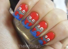 Holy Manicures: Beachy Crab Nails. These are pretty darn cute!!